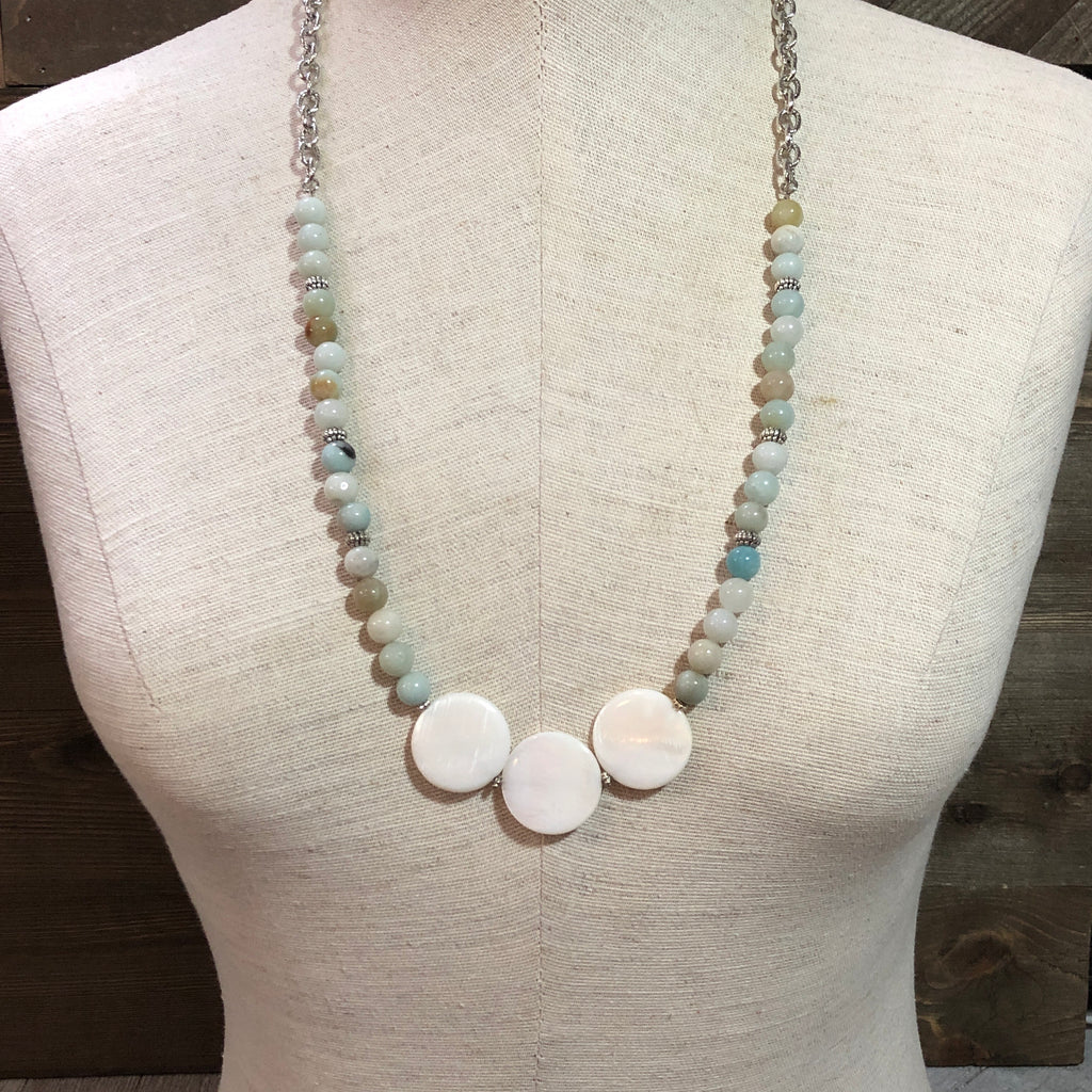 Stylized Amazonite Orb Necklace