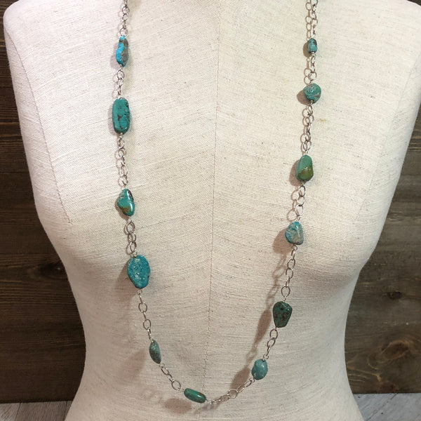 Turquoise Howlite Chain Necklace