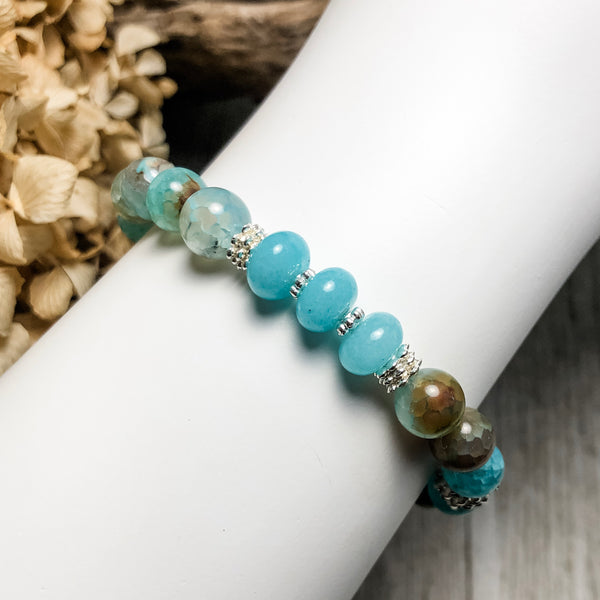 Create Your Own - Icy Mist Beaded Stretch Bracelet