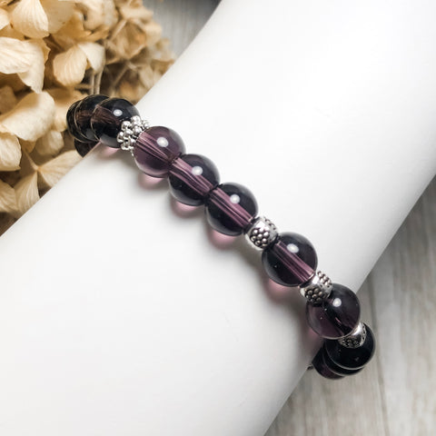 Create Your Own - Purple Passion Beaded Stretch Bracelet