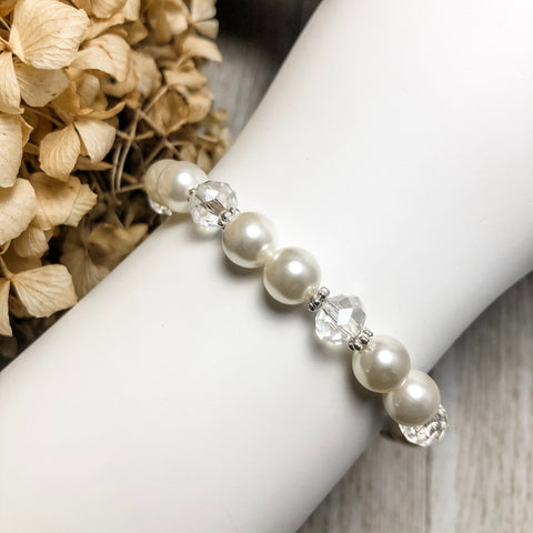 Create Your Own Pearl Collection - Princess Pearl Beaded Stretch Bracelet