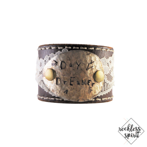 Day Dreamer Leather Cuff Bracelet