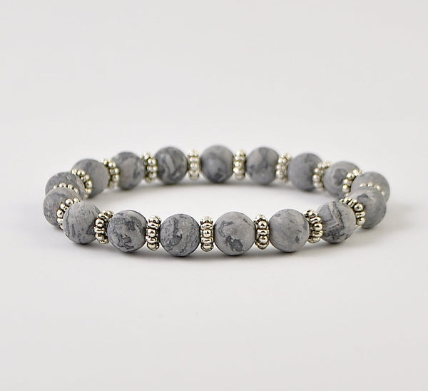 Frosted Picasso Womens Stretchy Bracelet