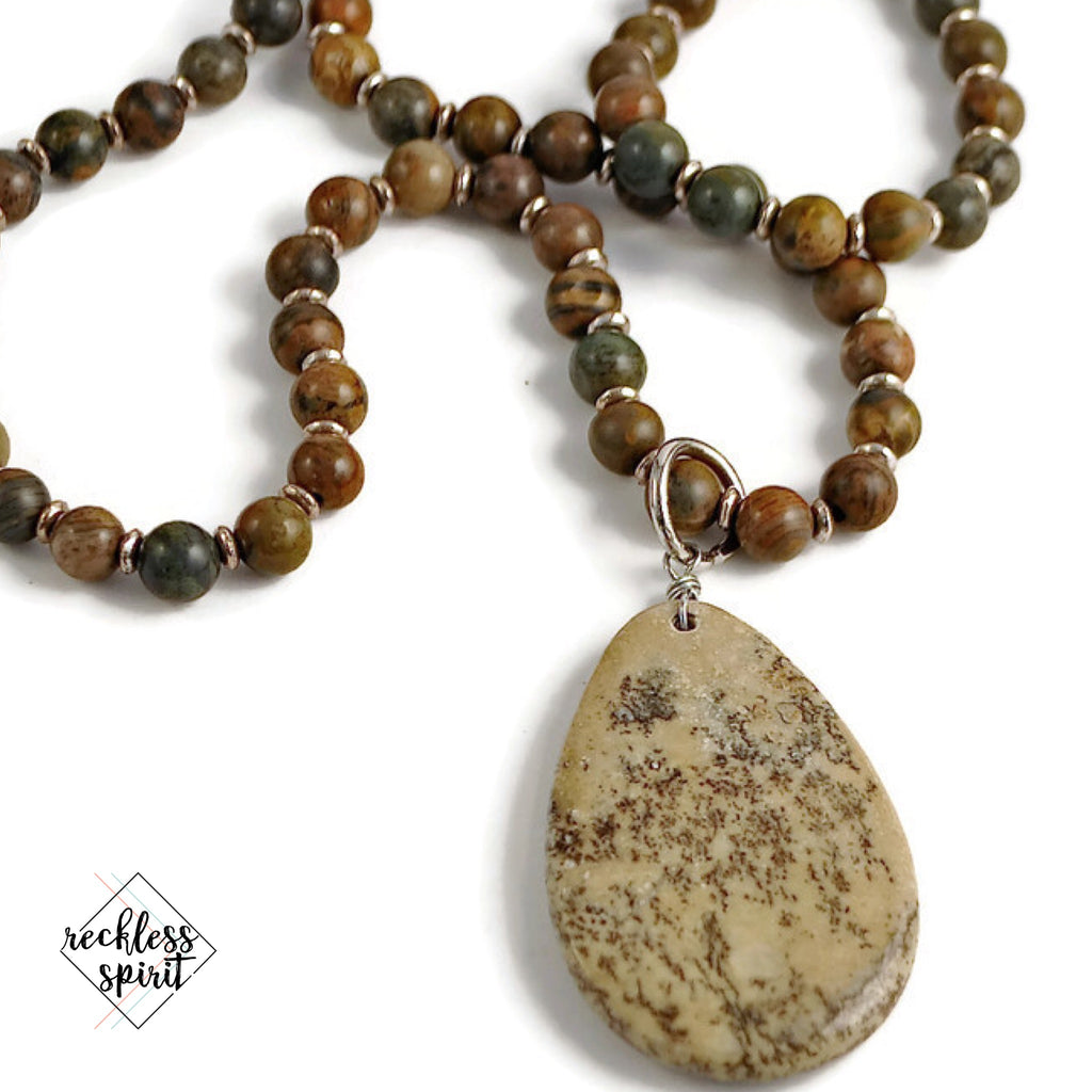 Ocean jasper pendant necklace reckless spirit ocean jasper pendant necklace ocean jasper pendant necklace aloadofball Image collections