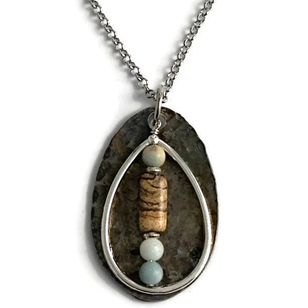 After the Rain Hammered Spoon Necklace
