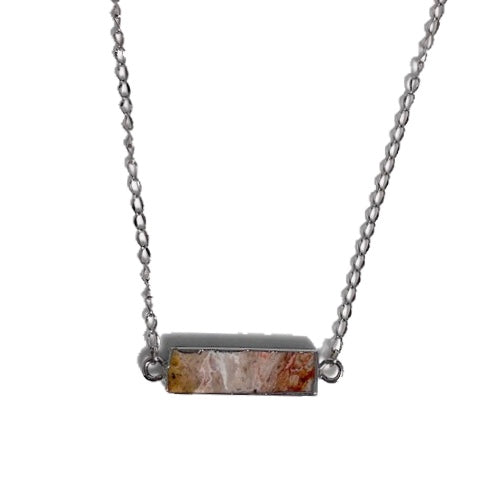 Agate Slice Bar Necklace