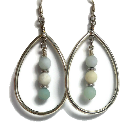 West Coast Bay Teardrop Dangle Earrings