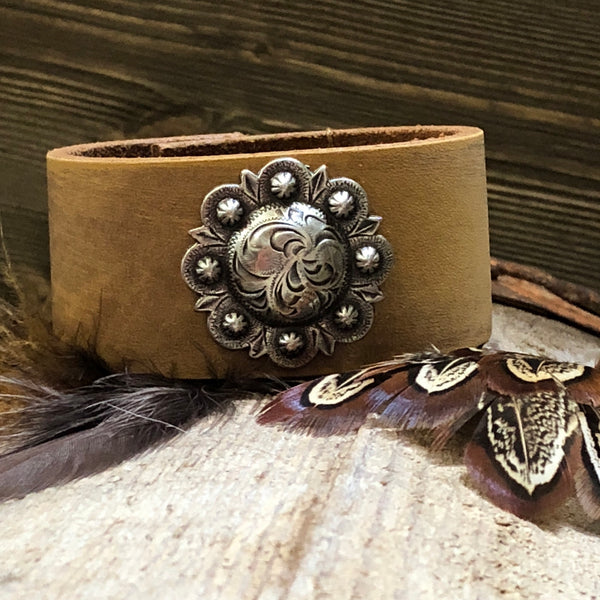Berry Bliss Leather Cuff Bracelet One-Of-A-Kind