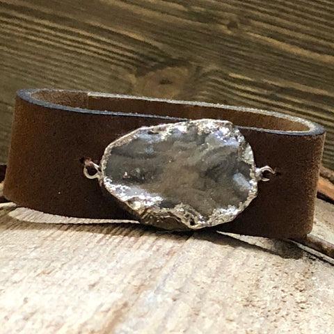 Serendipity Leather Cuff Bracelet
