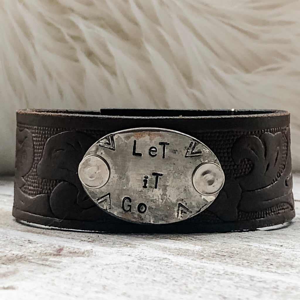 Let It Go Leather Cuff Bracelet