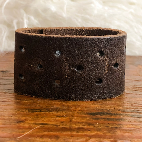 Bristol River Leather Cuff Bracelet