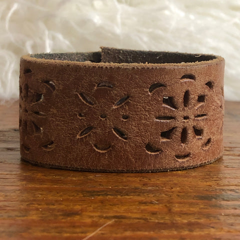 Britton Grace Leather Cuff Bracelet