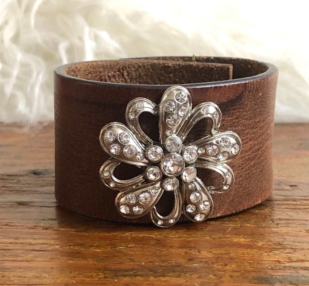 Girl Boss Leather Cuff Bracelet One-Of-A-Kind