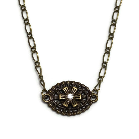 Dreamscape Antique Bronze Layering Necklace
