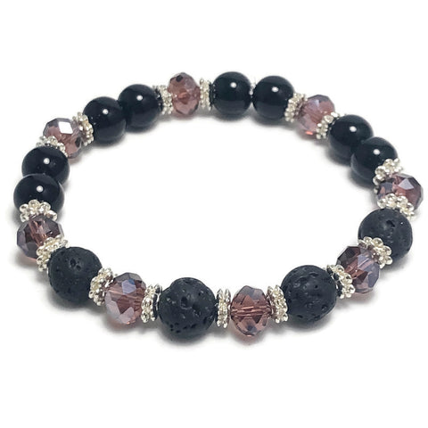 Create Your Own Lava Collection - Berry Bliss Beaded Stretch Bracelet