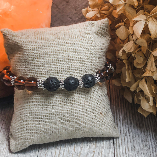 Create Your Own Lava Collection - Sangria Splash Beaded Stretch Bracelet