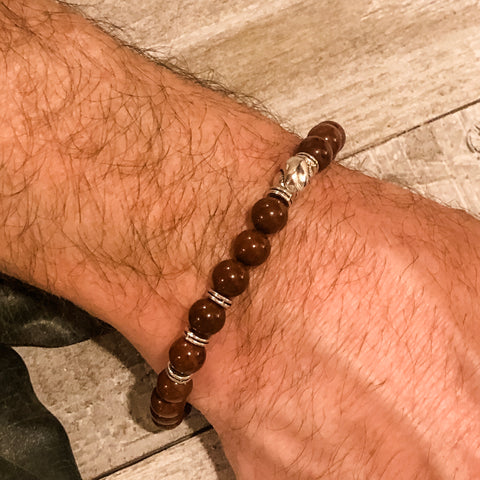 Create Your Own - Unisex Redwood Forest Beaded Stretch Bracelet