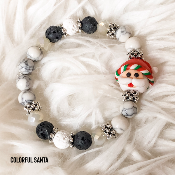 Special Edition Holiday Lava Bead Stretch Bracelet