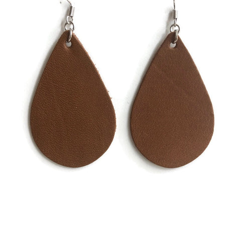 Rebel Rouser Leather Dangle Earrings