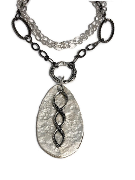 Delilah Hammered Spoon Necklace