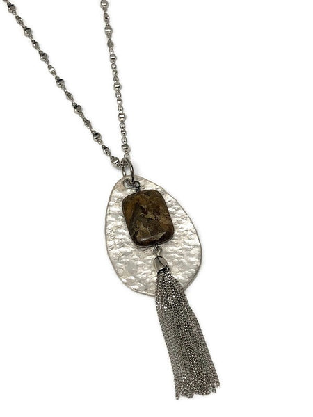 Carefree Spirit Hammered Spoon Necklace