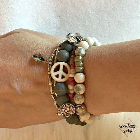 A Peace of Cake Stackable Stretchy Bracelet Set