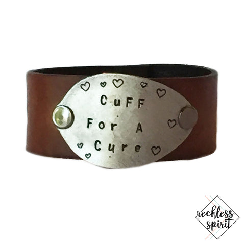 Cuff For A Cure Leather Cuff Bracelet