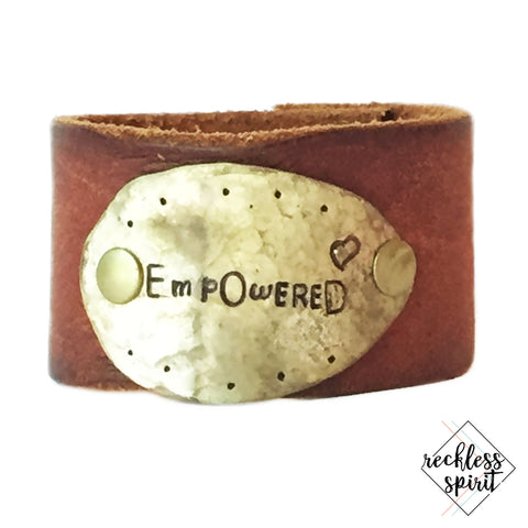 Empowered Leather Cuff Bracelet