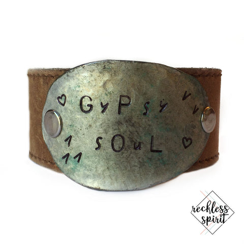 Gypsy Soul Leather Cuff Bracelet