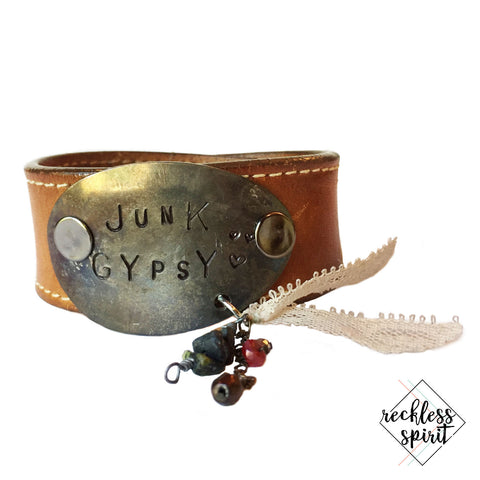 Junk Gypsy Leather Cuff Bracelet