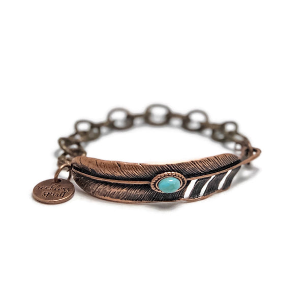 Copper Glow Chain Bracelet