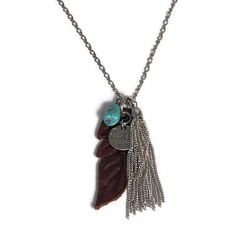 Alana Feather Cluster Necklace