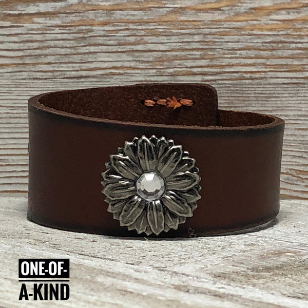 Girl Power Leather Cuff Bracelet One-Of-A-Kind