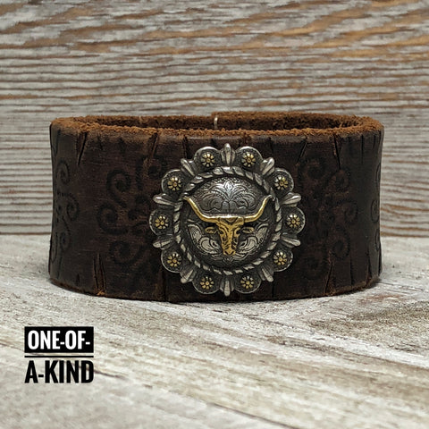 Blazin Trails Leather Cuff Bracelet One-Of-A-Kind