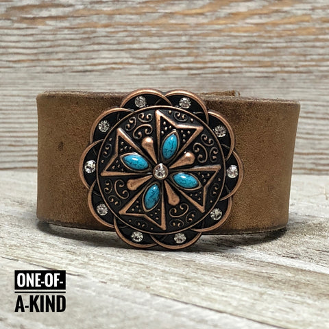 Alana Skies Leather Cuff Bracelet One-Of-A-Kind