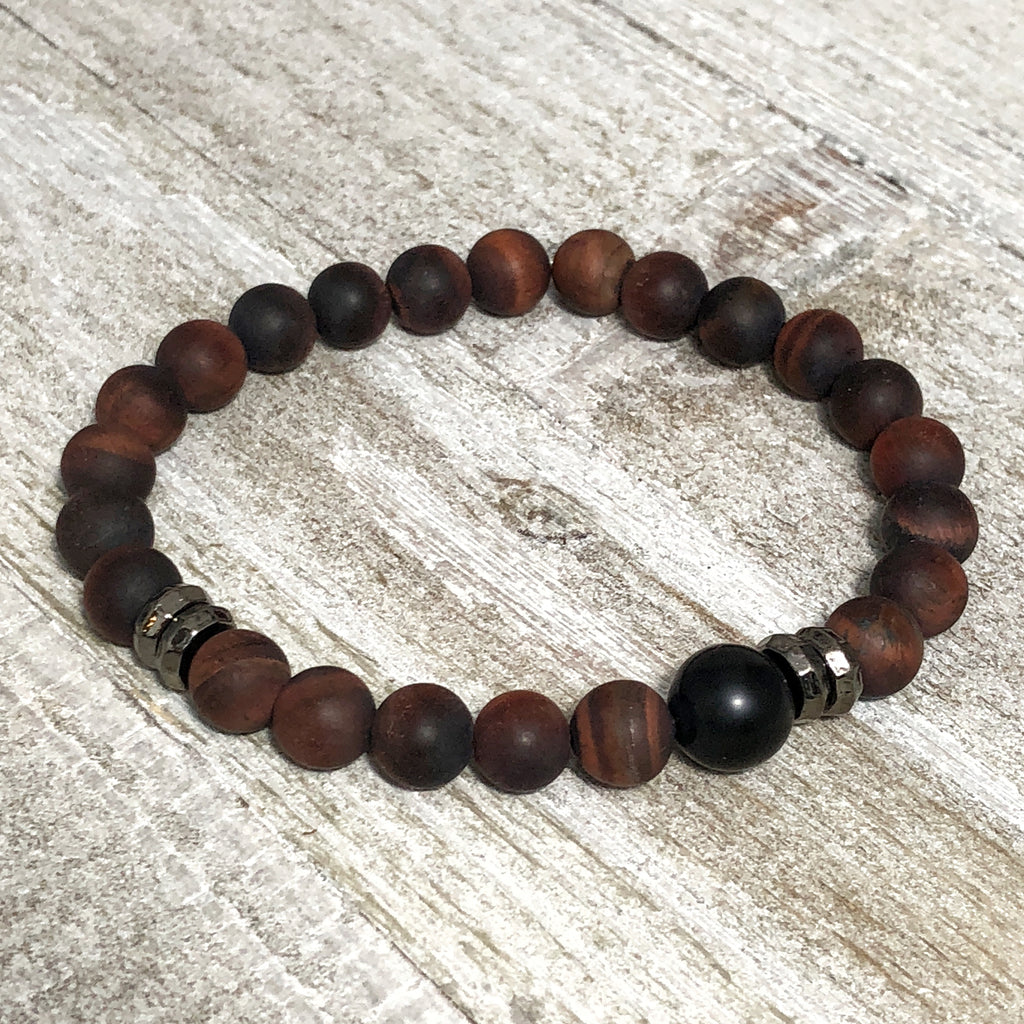Brecciated Jasper Mens Stretch Bracelet
