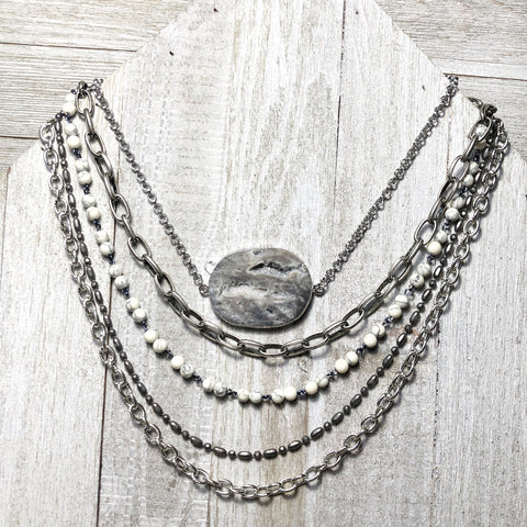 Druzy Lane Layered Necklace