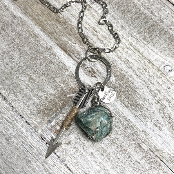 Indie Girl Sunny Amazonite Cluster Necklace