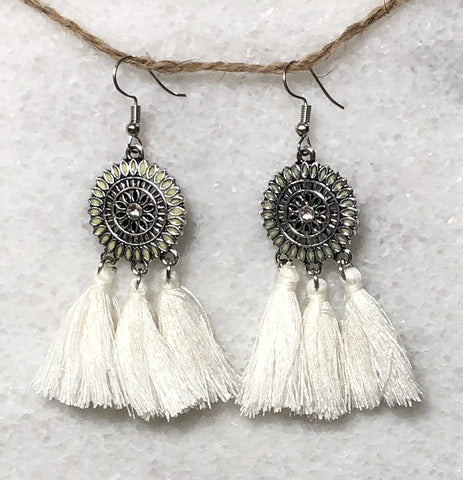 Dreamcatcher Tassel Fringe Earrings