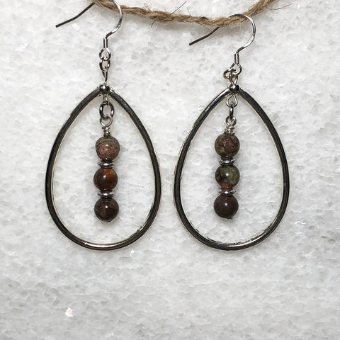 Tawny Teardrop Dangle Earrings