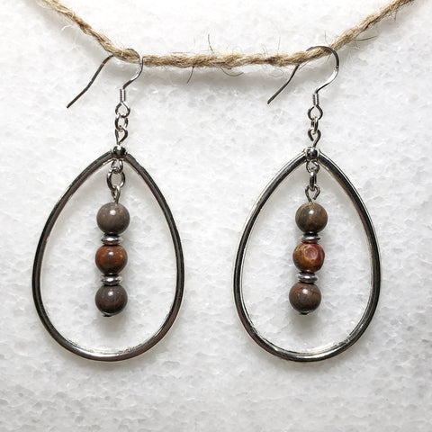 Aria Gemstone Teardrop Earrings