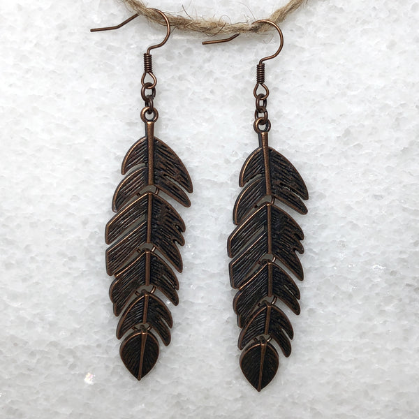 Feather Flair Copper Style Earrings