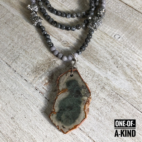 Bold and Beautiful One-of-a-Kind Agate Slice Pendant Necklace