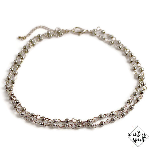 Drizzle Chain Choker Necklace