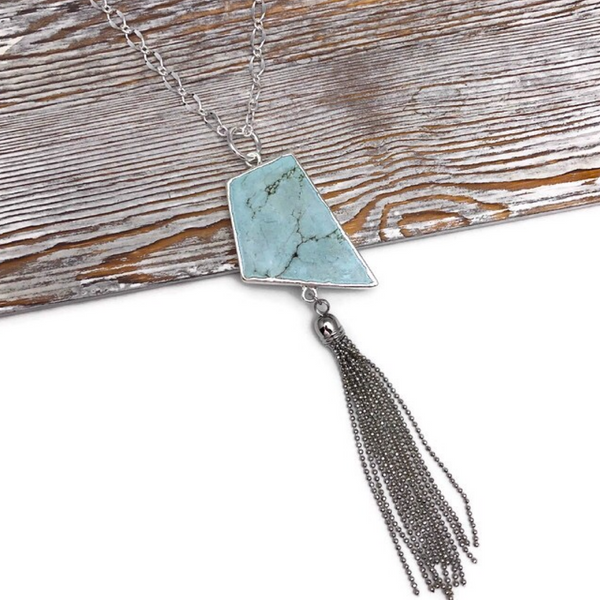 Be You Turquoise Howlite Necklace