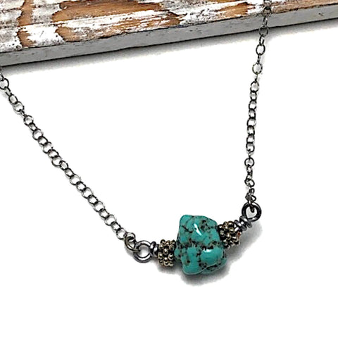 Butterfly Kisses Turquoise Howlite Necklace