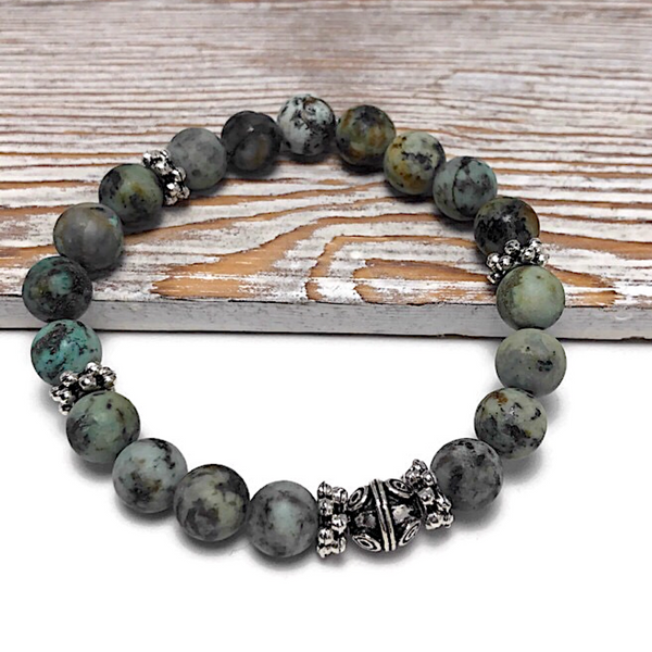 HEALING STONES - African Turquoise Womens Stretch Bracelet