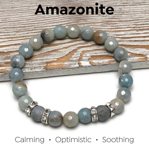 HEALING STONES - Amazonite Womens Stretch Bracelet