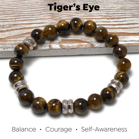 HEALING STONES - Tiger's Eye Womens Stretch Bracelet