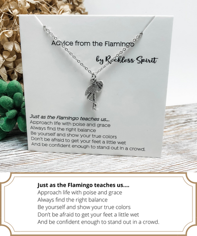 Advice From The Flamingo Necklace